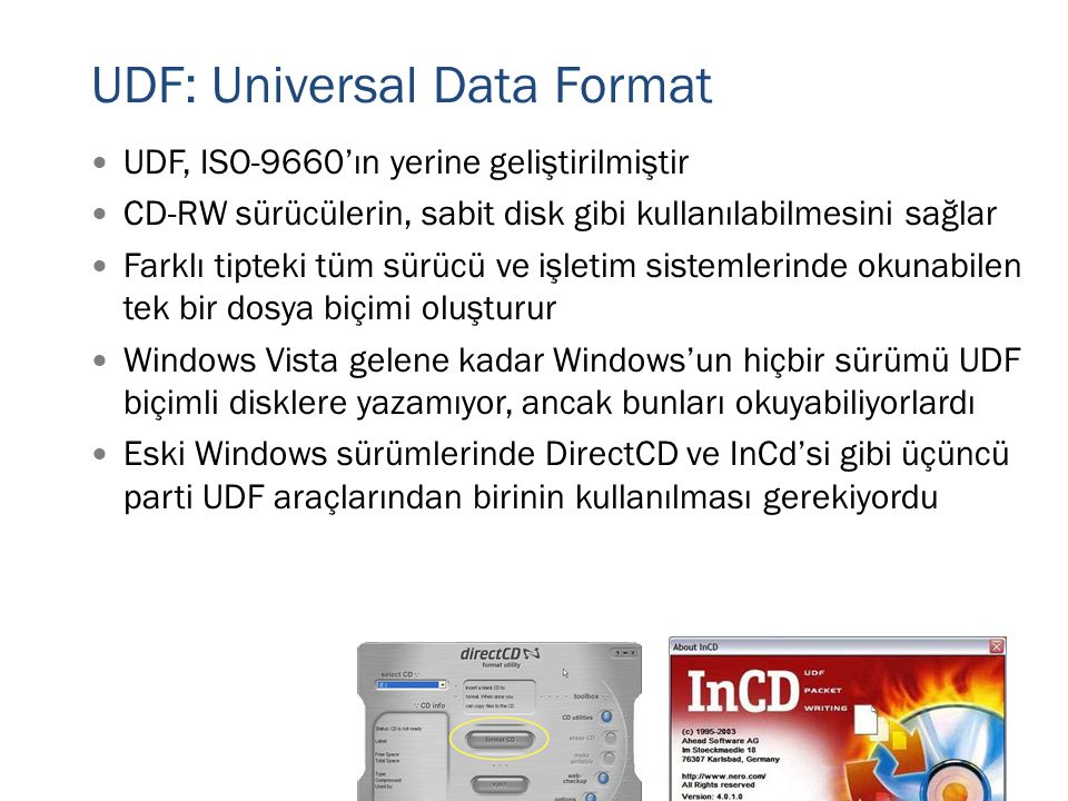 UDF: Universal Data Format