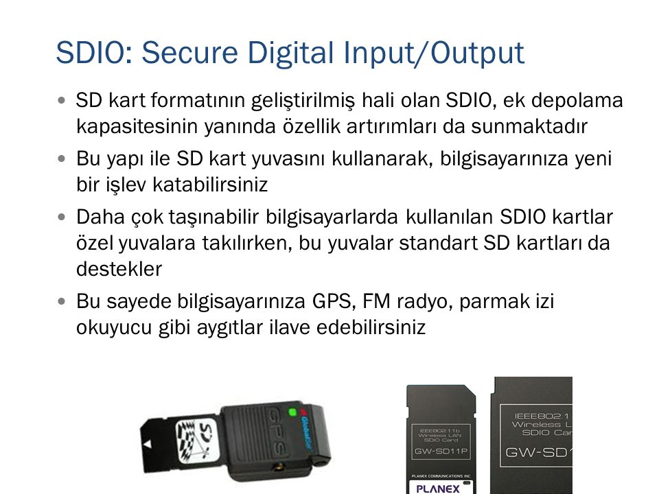 SDIO: Secure Digital Input/Output
