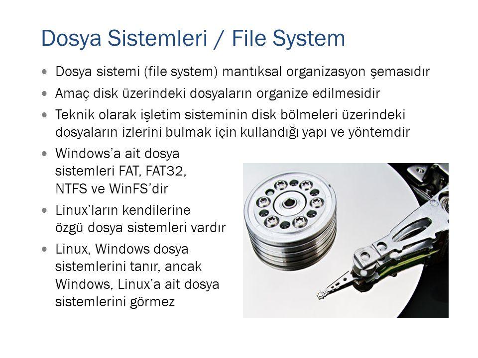 Dosya Sistemleri / File System