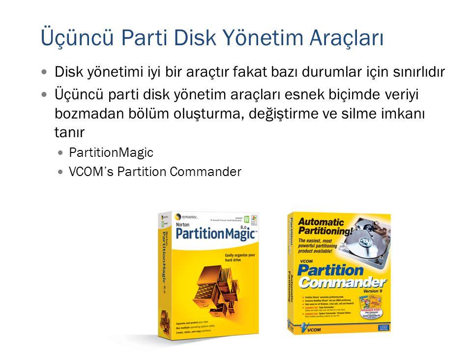 Üçüncü Parti Disk Yönetim Araçları