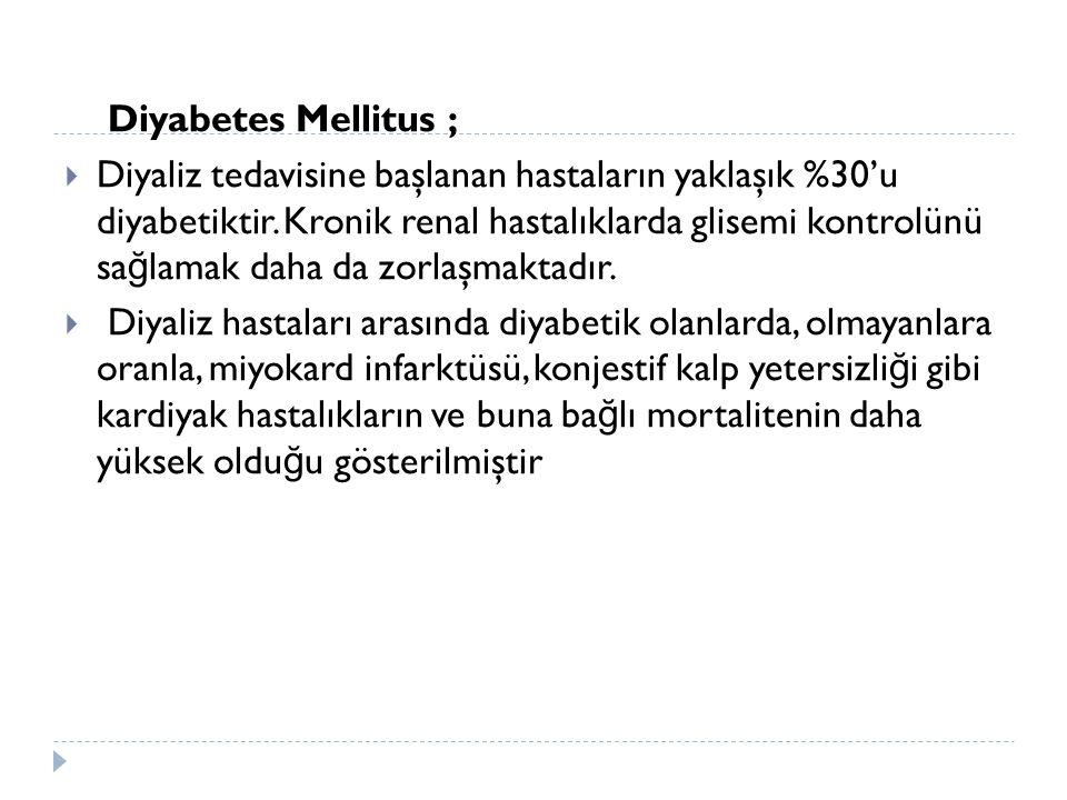Diyabetes Mellitus ;