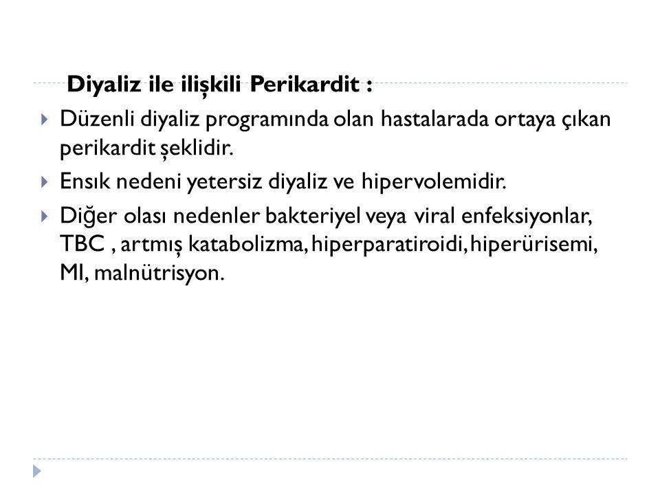 Diyaliz ile ilişkili Perikardit :