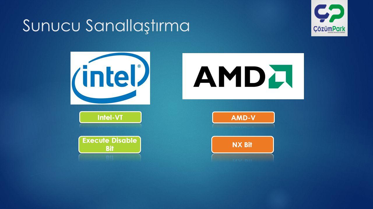 Sunucu Sanallaştırma Intel-VT AMD-V Execute Disable Bit NX Bit