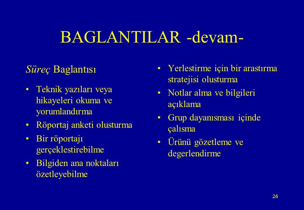 BAGLANTILAR -devam- Süreç Baglantısı