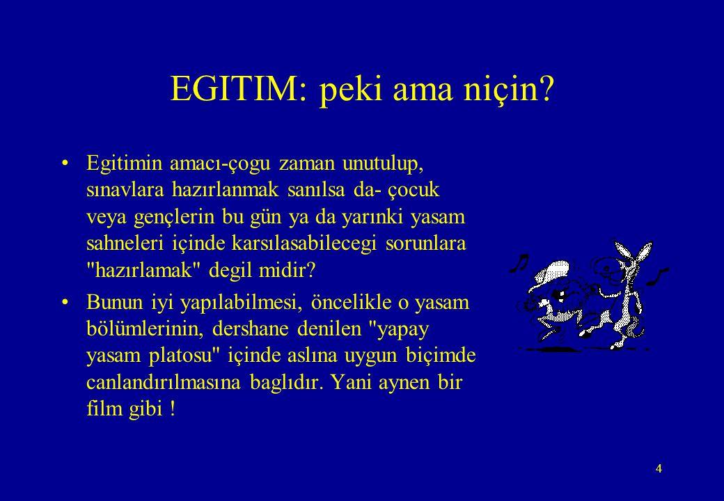 EGITIM: peki ama niçin