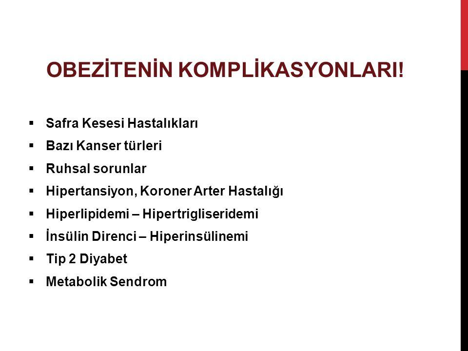 OBEZİTENİN KOMPLİKASYONLARI!
