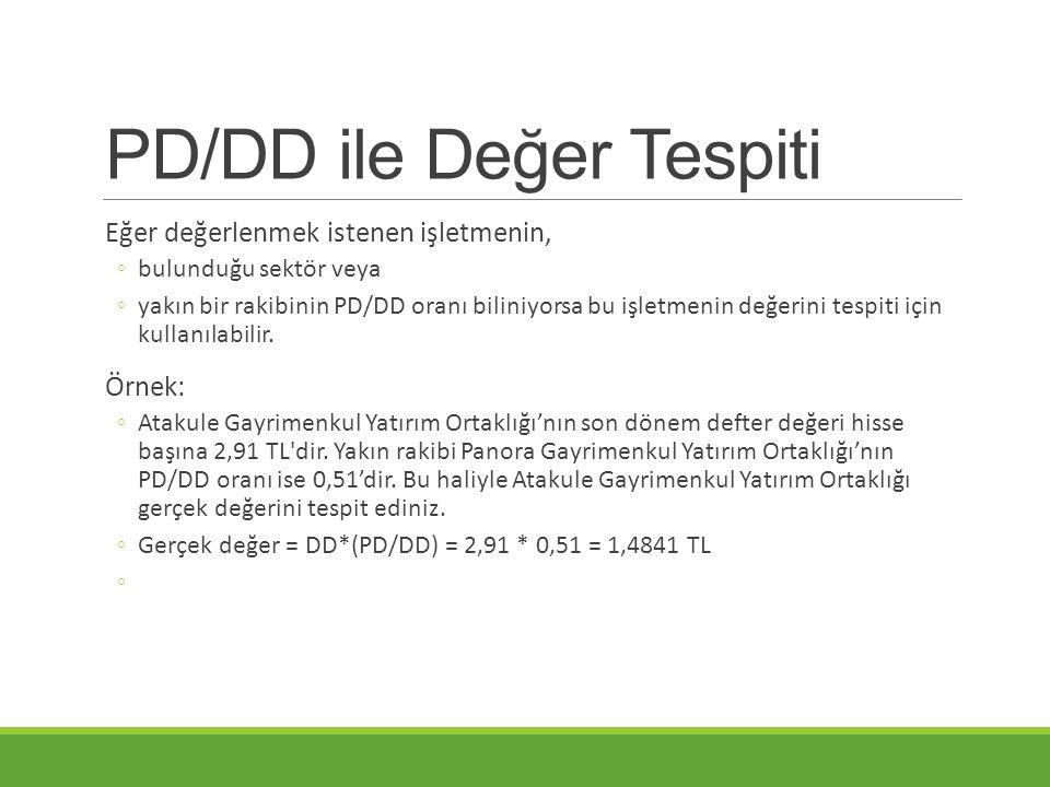 PD/DD ile Değer Tespiti