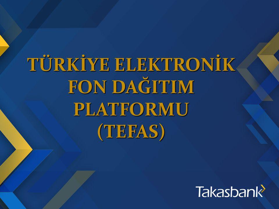 TÜRKİYE ELEKTRONİK FON DAĞITIM PLATFORMU (TEFAS)