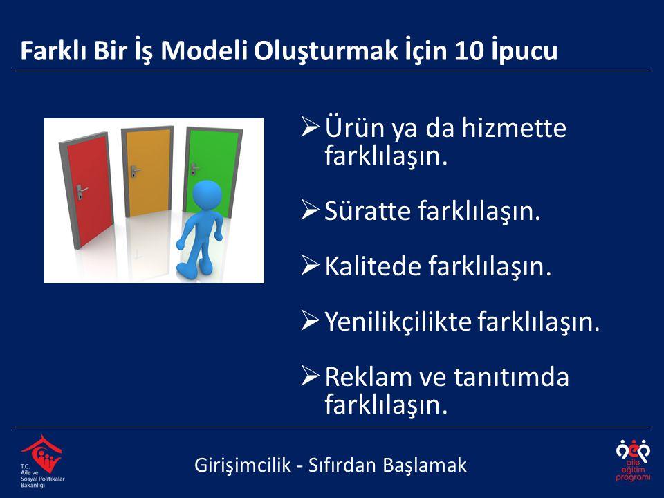 Farklı Bir İş Modeli Oluşturmak İçin 10 İpucu