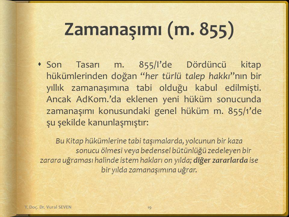 Zamanaşımı (m. 855)