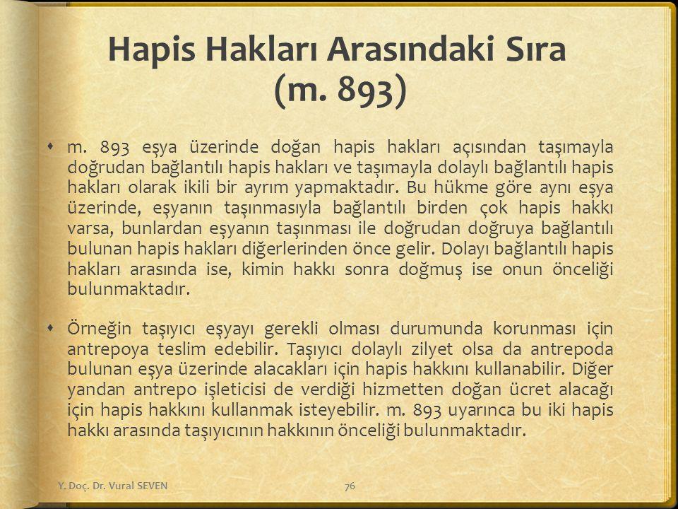 Hapis Hakları Arasındaki Sıra (m. 893)