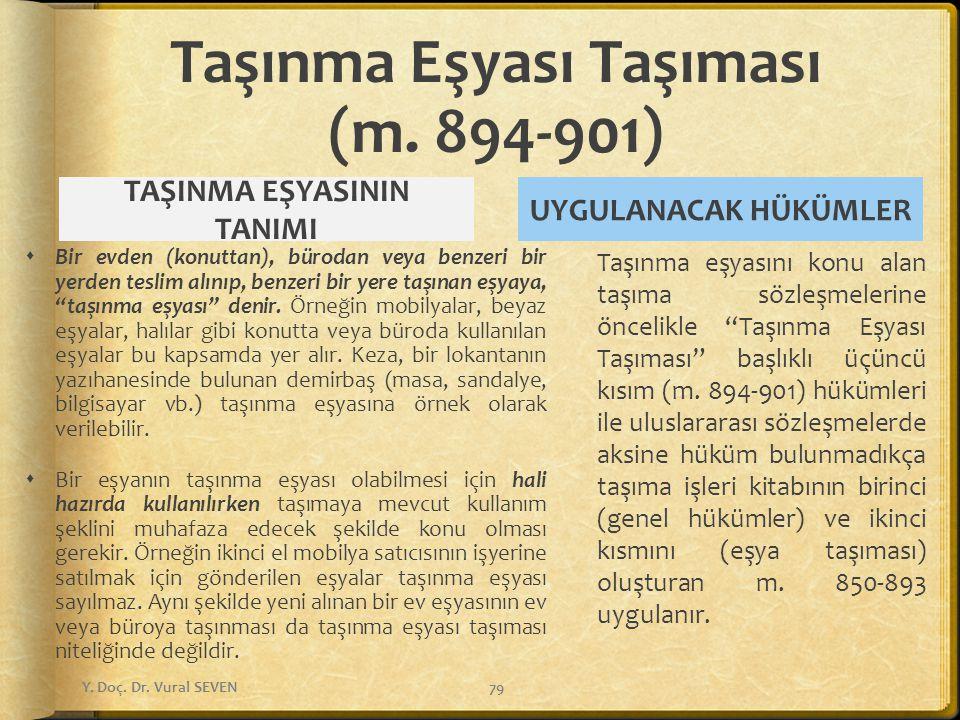 Taşınma Eşyası Taşıması (m. 894-901)