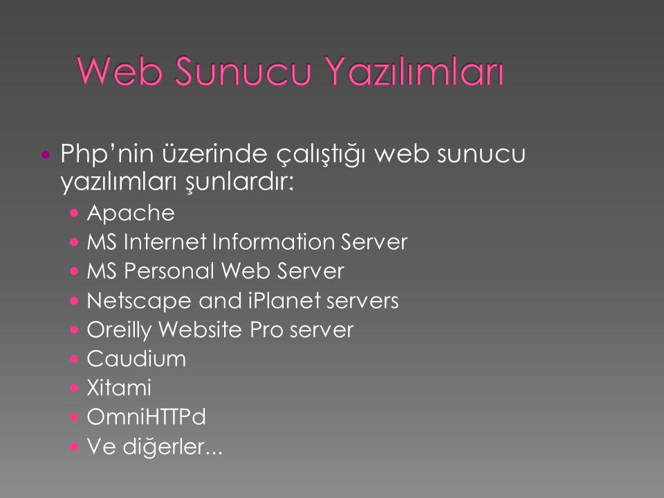 Web Sunucu Yazılımları