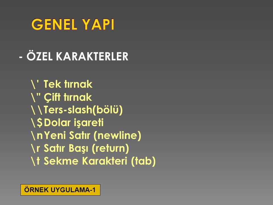 GENEL YAPI