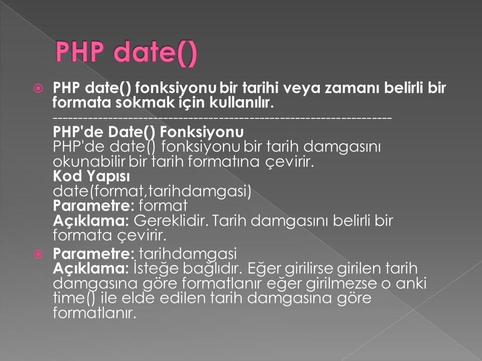 PHP date()
