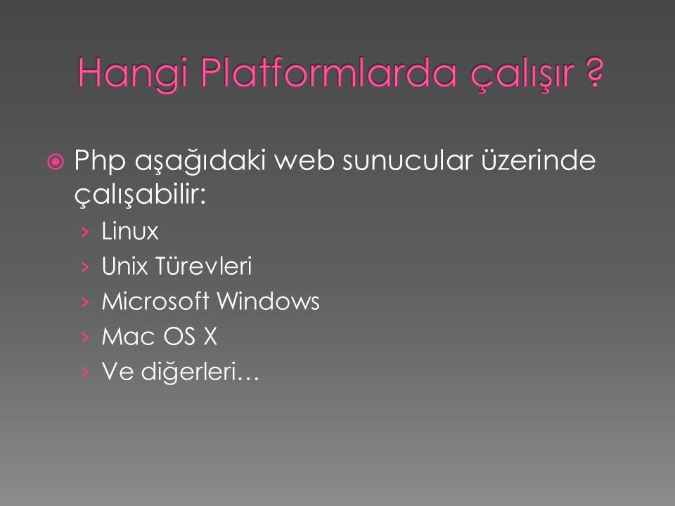 Hangi Platformlarda çalışır