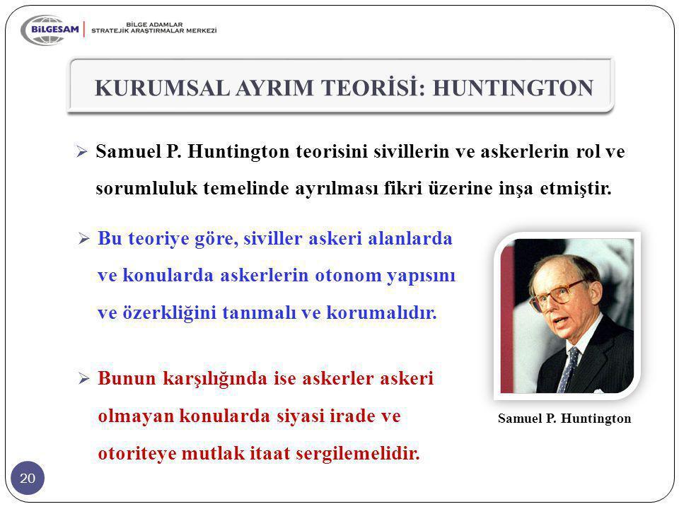 KURUMSAL AYRIM TEORİSİ: HUNTINGTON