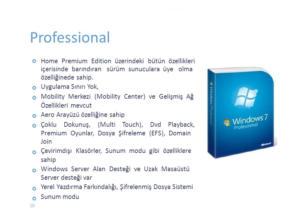 Professional WINDOWS 7 - EYLÜL 2012