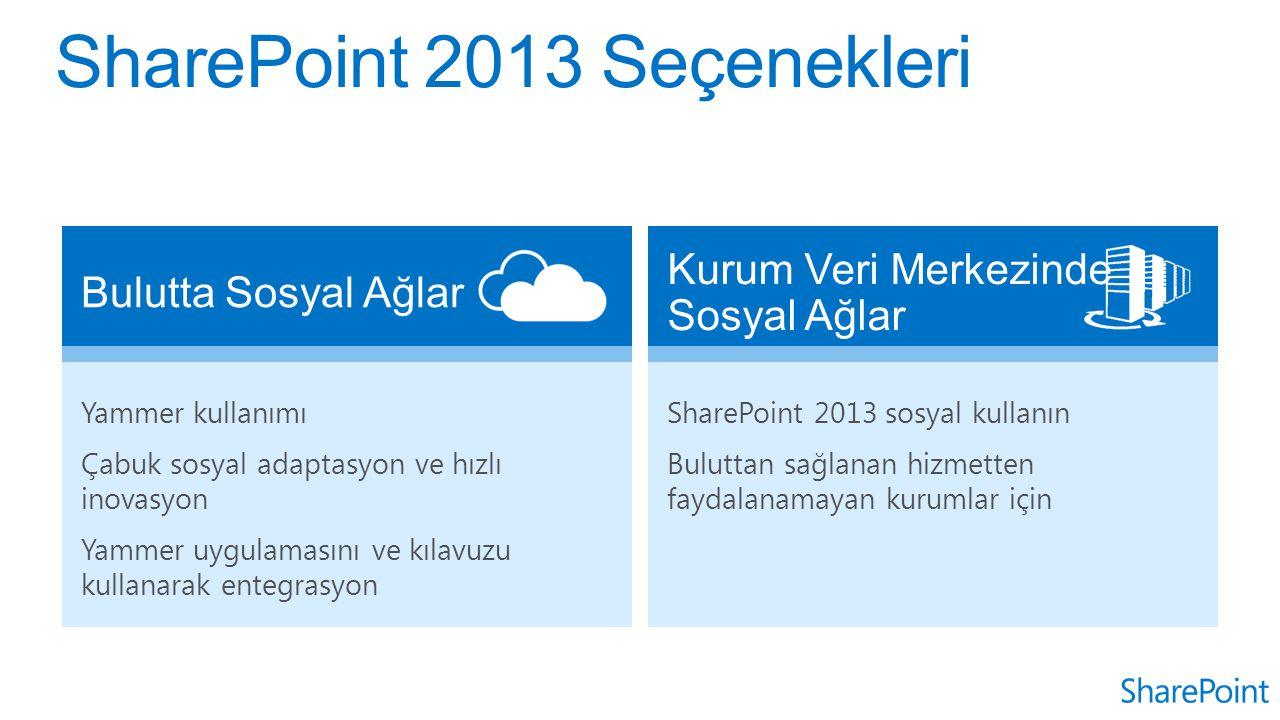 SharePoint 2013 Seçenekleri