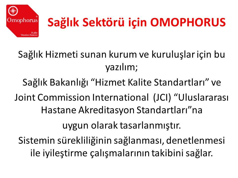Sağlık Sektörü için OMOPHORUS