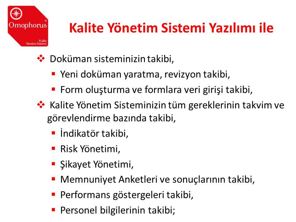Kalite Yönetim Sistemi Yazılımı ile