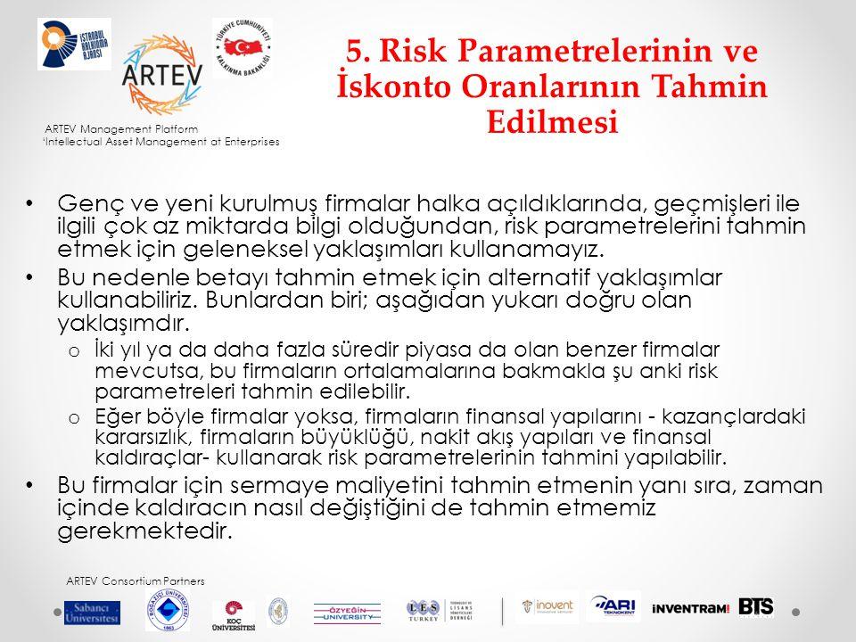5. Risk Parametrelerinin ve İskonto Oranlarının Tahmin Edilmesi