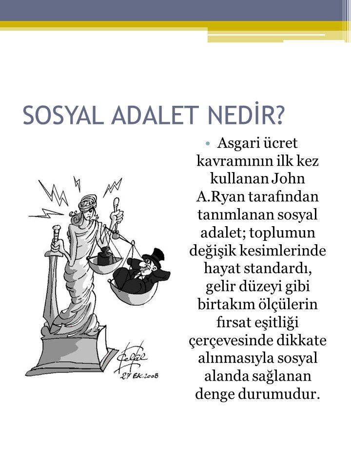 SOSYAL ADALET NEDİR