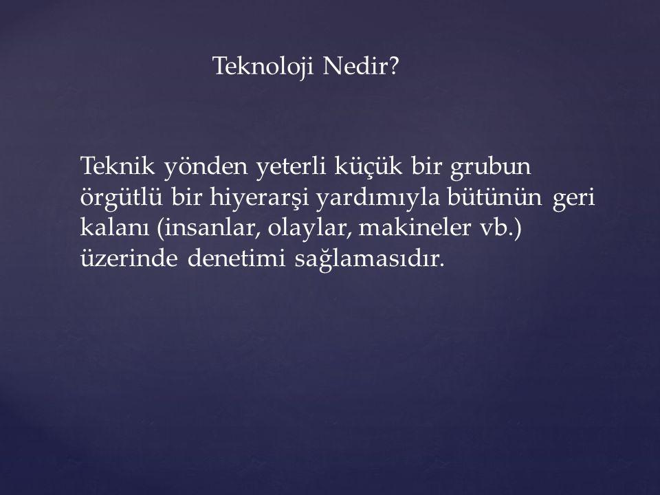 Teknoloji Nedir