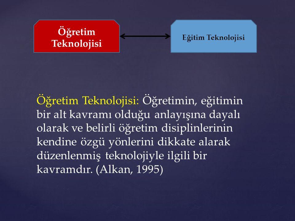 Öğretim Teknolojisi Eğitim Teknolojisi.