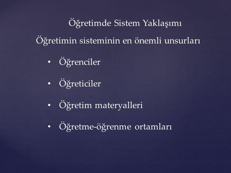 Öğretimde Sistem Yaklaşımı