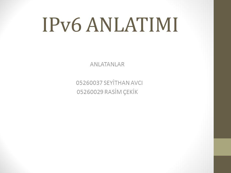 ANLATANLAR 05260037 SEYİTHAN AVCI 05260029 RASİM ÇEKİK