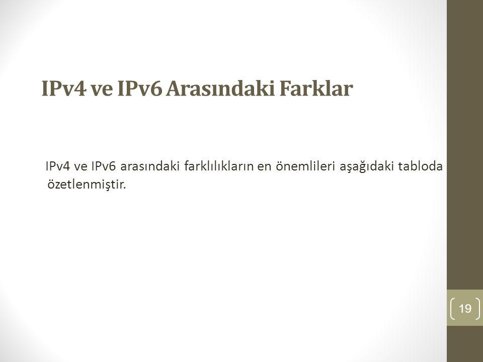 IPv4 ve IPv6 Arasındaki Farklar