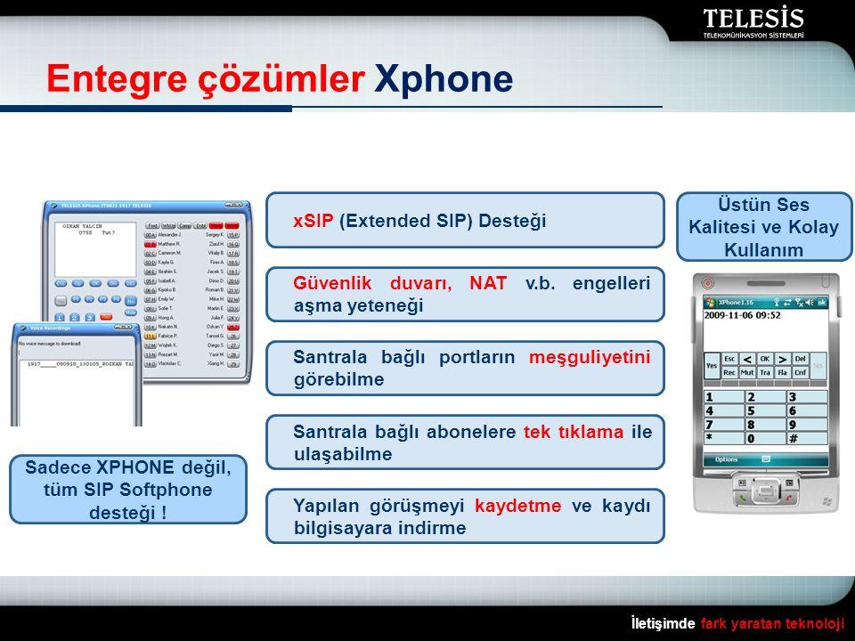 Üstün Ses Kalitesi ve Kolay Kullanım tüm SIP Softphone desteği !