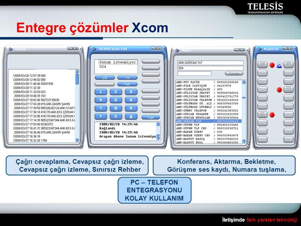 Entegre çözümler Xcom Çağrı cevaplama, Cevapsız çağrı izleme, Cevapsız çağrı izleme, Sınırsız Rehber.