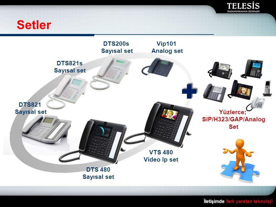Setler DTS200s Sayısal set Vip101 Analog set DTS821s Sayısal set