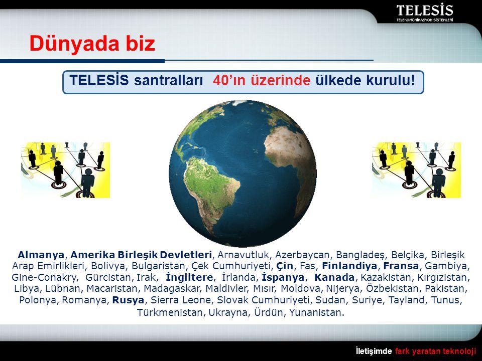 Dünyada biz TELESİS santralları 40'ın üzerinde ülkede kurulu!