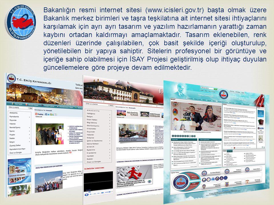 Bakanlığın resmi internet sitesi (www. icisleri. gov