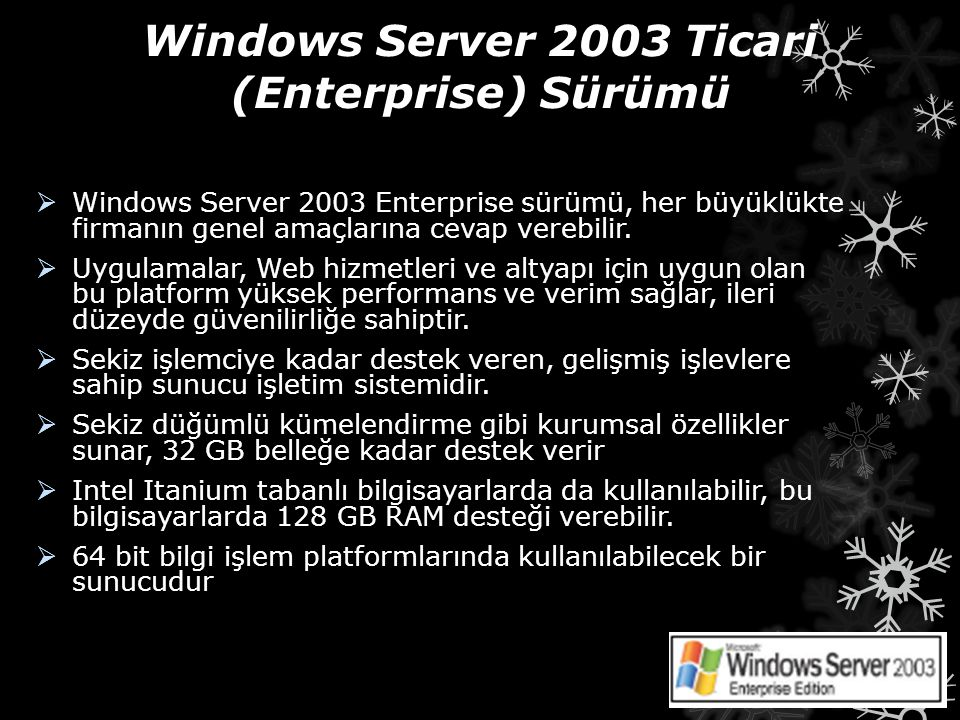 Windows Server 2003 Ticari (Enterprise) Sürümü
