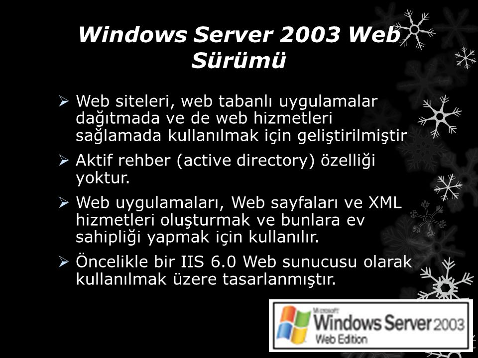 Windows Server 2003 Web Sürümü