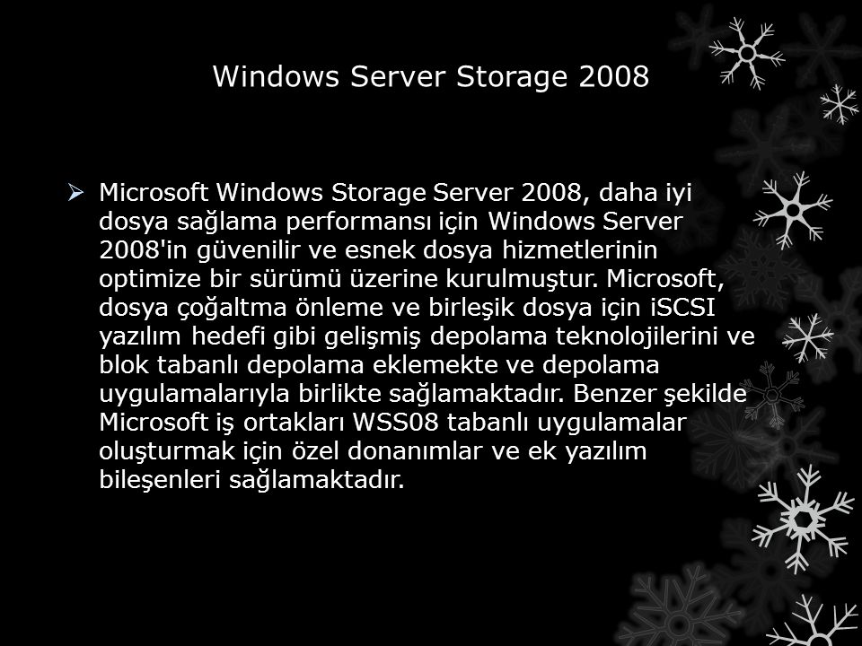 Windows Server Storage 2008
