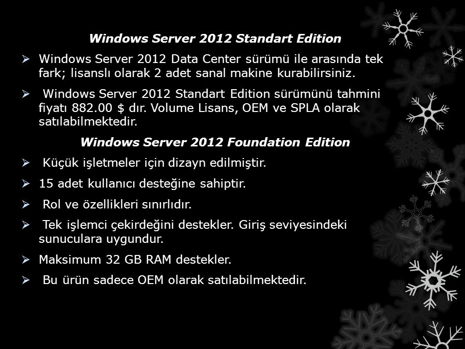 Windows Server 2012 Standart Edition
