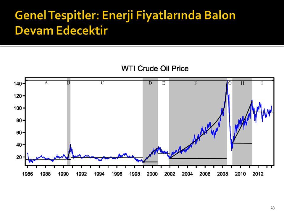 Genel Tespitler: Enerji Fiyatlarında Balon Devam Edecektir