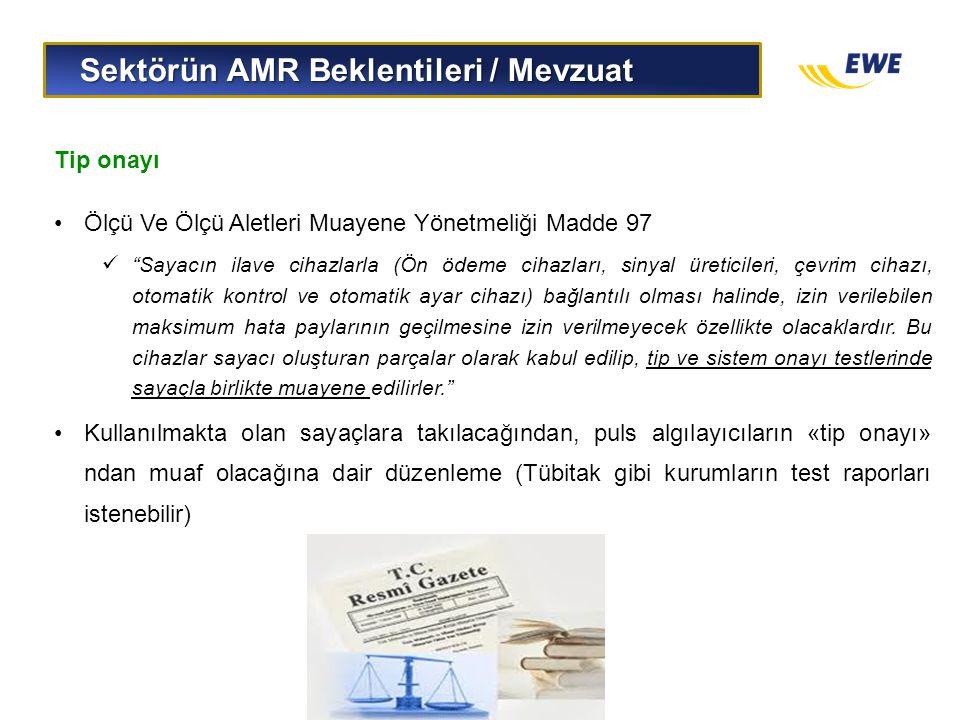 Sektörün AMR Beklentileri / Mevzuat