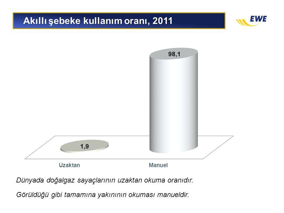 Akıllı şebeke kullanım oranı, 2011