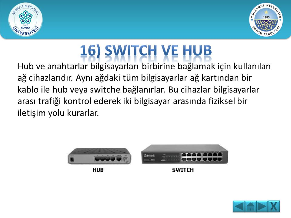 16) Switch ve Hub
