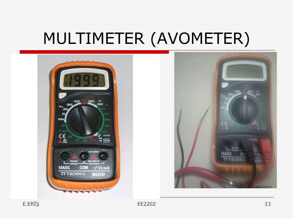 MULTIMETER (AVOMETER)