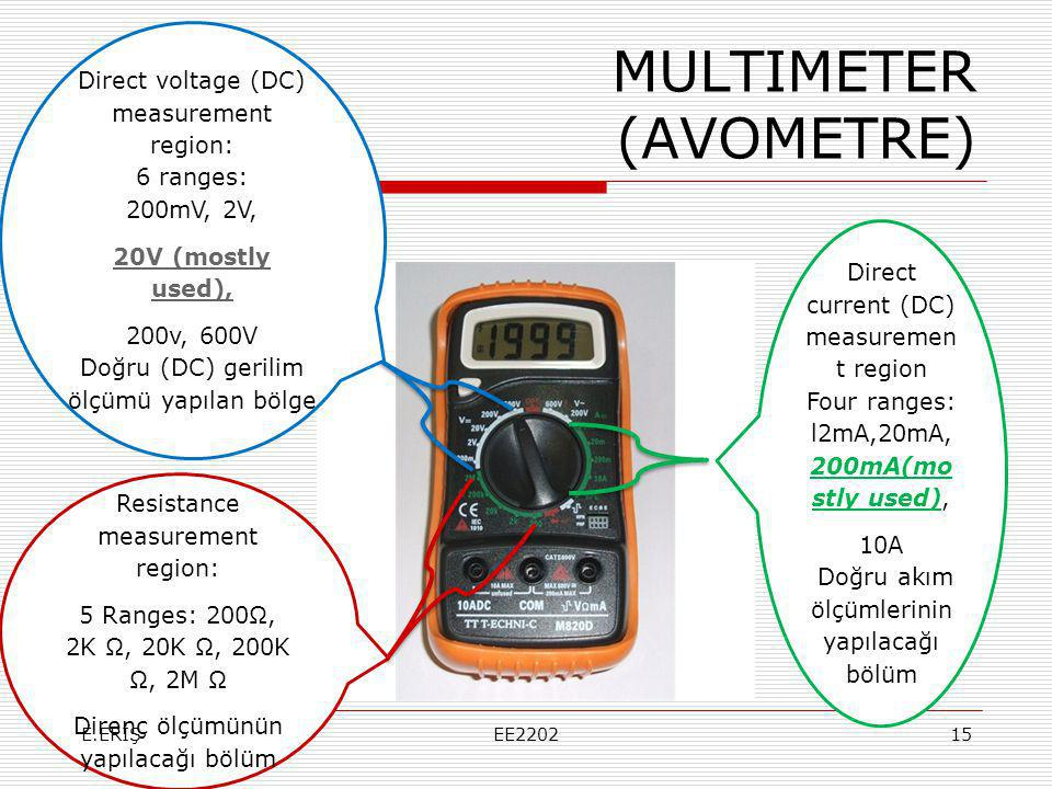 MULTIMETER (AVOMETRE)