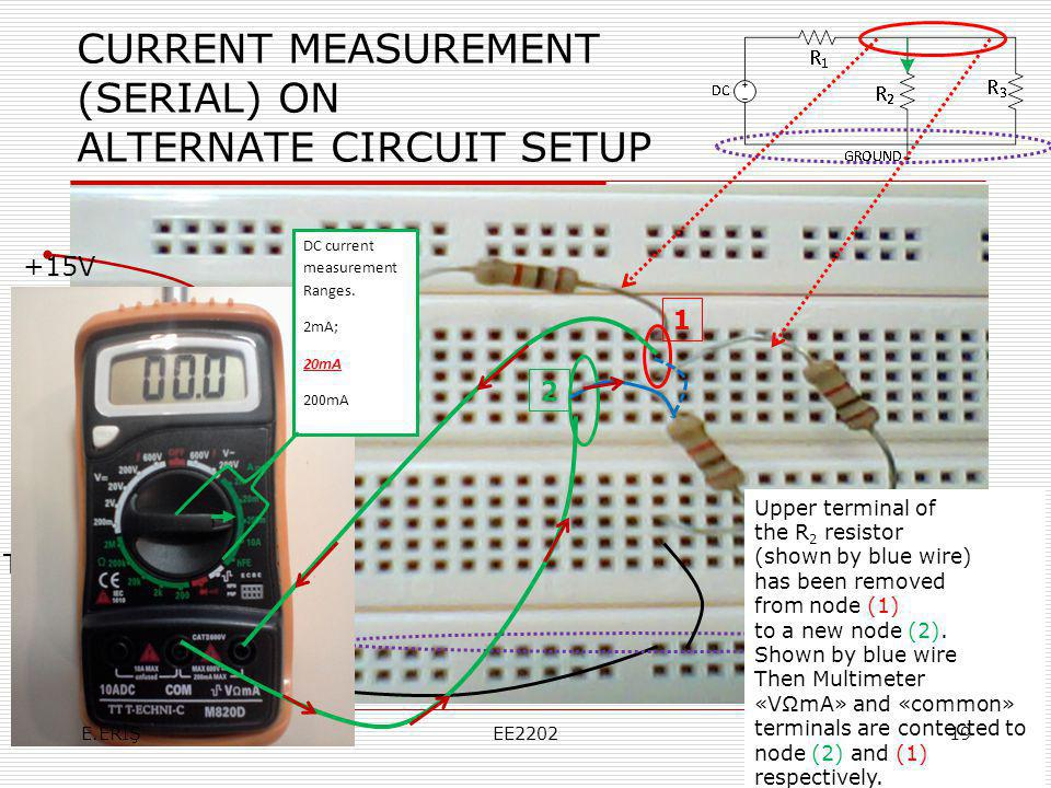 CURRENT MEASUREMENT (SERIAL) ON ALTERNATE CIRCUIT SETUP