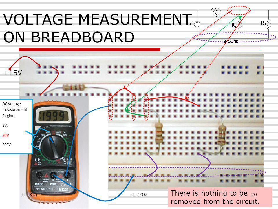VOLTAGE MEASUREMENT ON BREADBOARD
