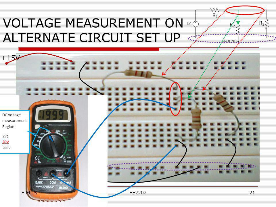 VOLTAGE MEASUREMENT ON ALTERNATE CIRCUIT SET UP